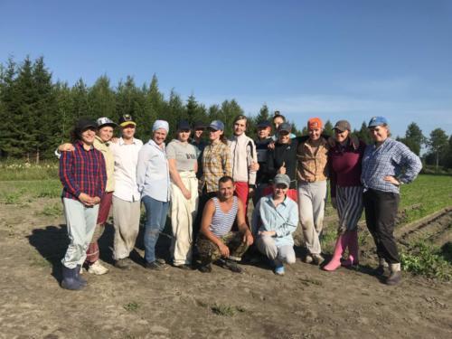 Rautaisen ammattitaitoinen kitkijäryhmä / Weeding professionals 2018
